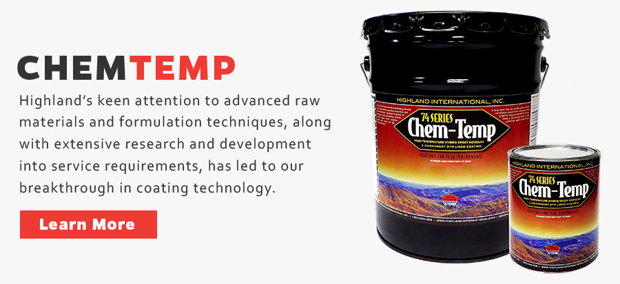 ChemTemp Epoxy Novolac- Tank Liner, Internal Pipe Coating, Secondary Containment Coating, CUI Coating Hybrid Epoxy Novolac Liner Coating Chemically Resistant Epoxy Coating