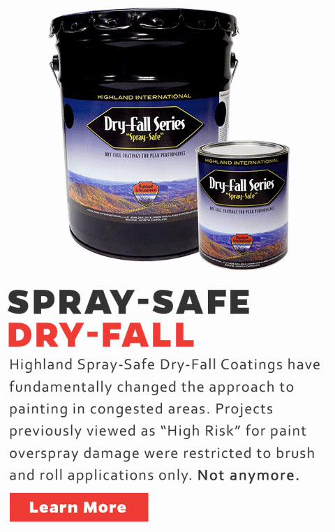 Industrial Dry Fall - Dry Fall Epoxy Primer, Dry Fall Urethane Topcoat, Dry Fall Epoxy DTM, Dry Fall Alkyd Primer, Acrylic Exterior Dry Fall paint Dry Fall Zinc Rich Epoxy Primer