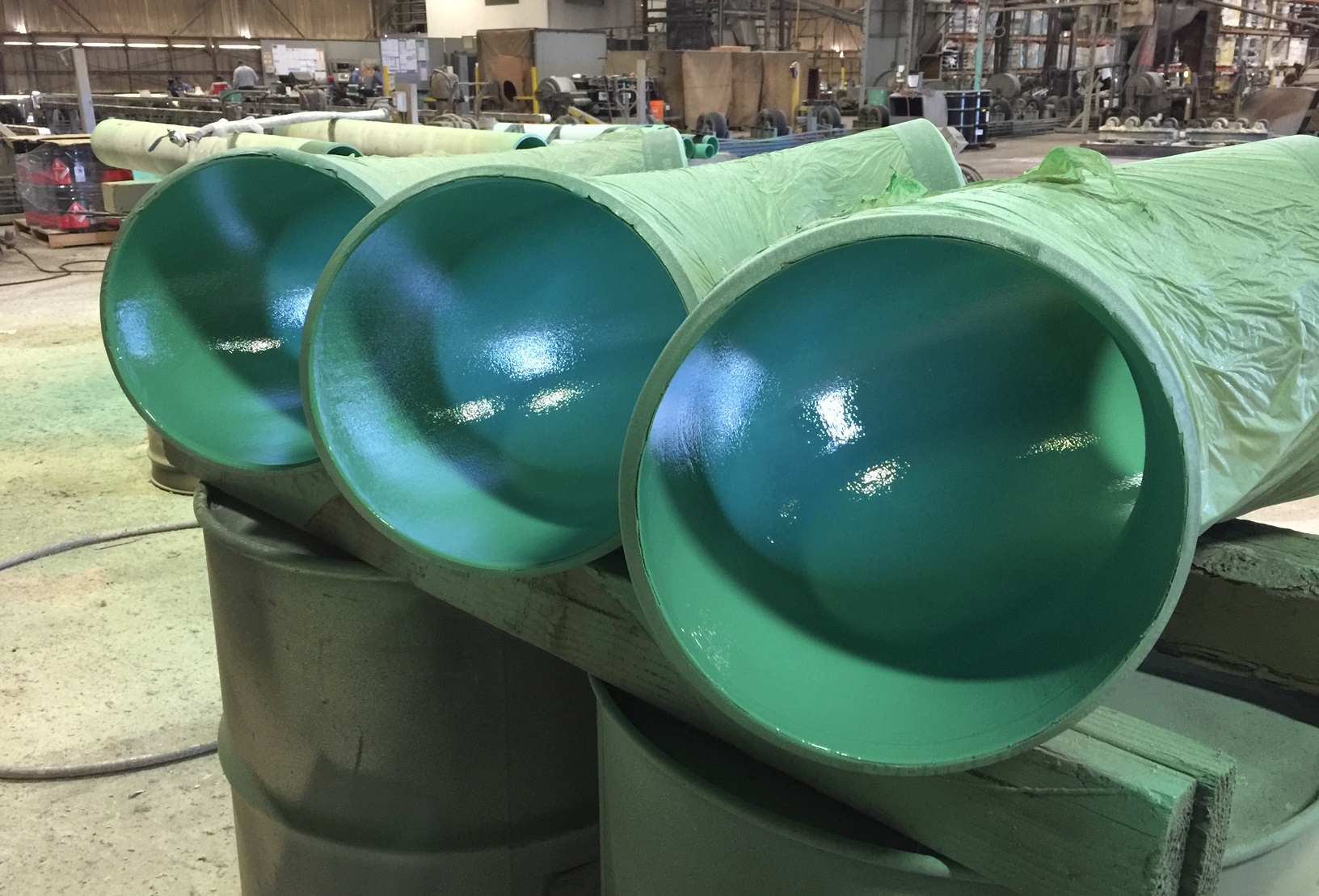 ChemTemp Epoxy Novolac- Tank Liner, Internal Pipe Coating, Secondary Containment Coating, CUI Coating Hybrid Epoxy Novolac Liner Coating Chemically Resistant Epoxy Coating Abrasion Resistant Epoxy Novolac Coating - Liner & DTM PIG Applied In-Situ Epoxy Coating In-Situ Epoxy Novolac Coating